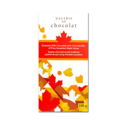 Galerie Au Chocolat Maple Crunch Milk Chocolate Bar 100G