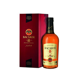 Bacardi 8 Years Old Amber rum   |  1 L   |   Puerto Rico