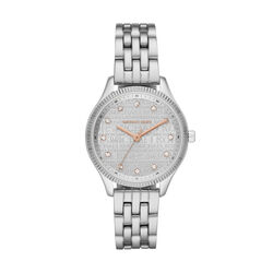 Michael Kors Lexington Three-Hand Stainless Steel