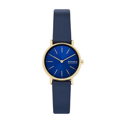 Skagen Navy Dial Navy Leather 30mm