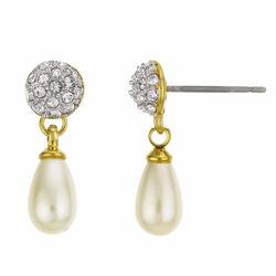 Buckley Pearl Dropper Earrings  One Size