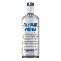 Absolut Original Vodka   |   1L   |   Sweden