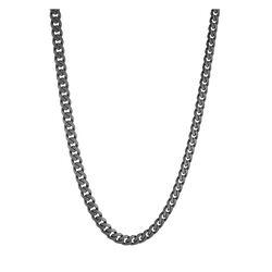 Italgem Gun Ip Stainless Steel Matte Curb Chain