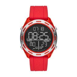 Diesel Crusher Digital Red Silicone Watch
