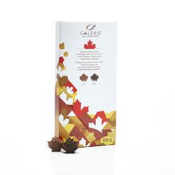 Galerie Au Chocolat Chocolat au Lait et Noir avec pepites de sirop d'érable 108G