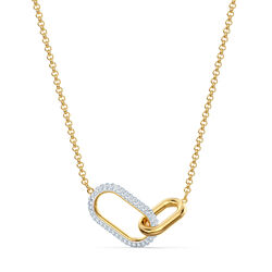 Swarovski Time Necklace 38/1.5 x 2.9cm