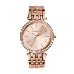 Michael Kors Darci Pavé Rose Gold-Tone Watch