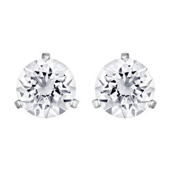 Swarovski Solitaire Pierced Earrings  1/4 inches