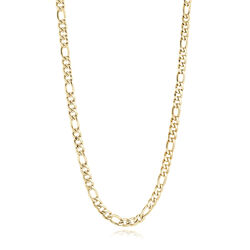 Italgem Gold Ip Stainless Steel Figaro Link Necklace