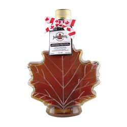 Jakemans Maple Syrup in an Autumn Leaf Glass Bottle 500ML