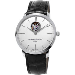 Frederique Constant Mens Slimline Auto Heartbeat Stainless Steel Watch