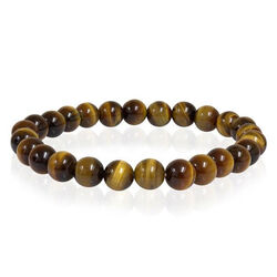 Italgem Yellow Tiger Eye 8mm Bead Bracelet
