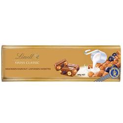 Lindt Gold Milk & Raisin & Hazelnuts Bar  300g